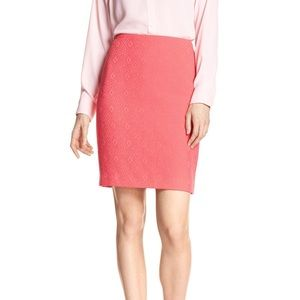 NWT Banana Republic Coral Hexagon Pencil Skirt